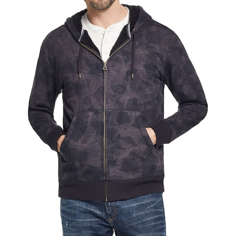 Weatherproof Mens Sweater Small Full Zip Sherpa Camo