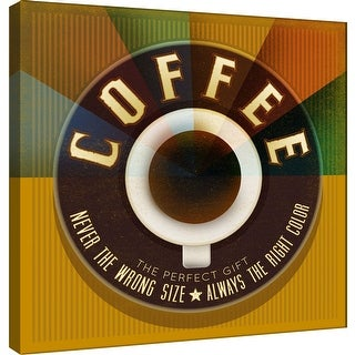 "PTM Images 9-100021  PTM Canvas Collection 12"" x 12"" - ""The Perfect Gift"" Giclee Coffee Art Print on Canvas"