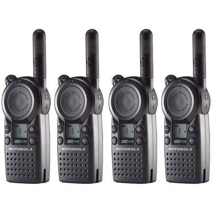 Motorola CLS1110 Professional 2-Way Radio / 2 Mile Range-(4 Pack)