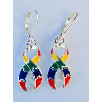 Autism Awareness Charm Earrings - Multi Color