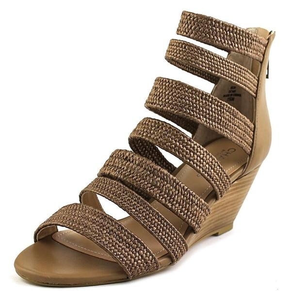 Charles By Charles David Hamburg Women Open Toe Leather Wedge Sandal