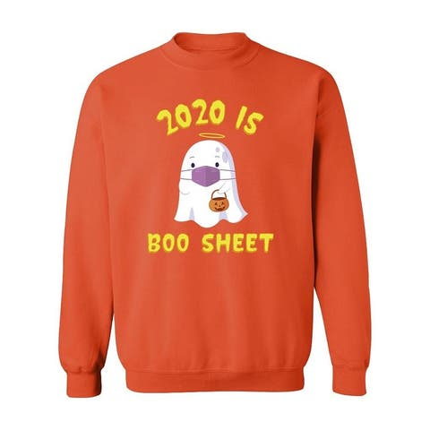 2020 Is Boo Sheet Funny Cartoon Sweatshirt Women's -GoatDeals Designs