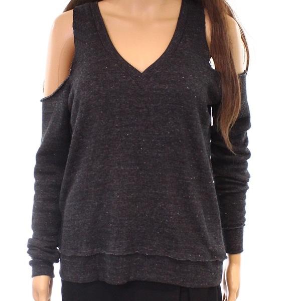 Alternative Women's Small Cold-Shoulder Speckle Sweater