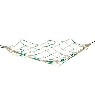 "Unique Bargains Backyard Nylon Hang Hammock Mesh Net Sleeping Bed Green Khaki 79"" x 43"""