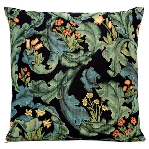 STP Goods Decorative Flowers Tapestry Throw Pillow
