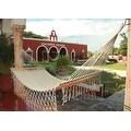 Sunnydaze American Style Mayan Hammock with Spreader Bar, Natural - Thumbnail 2