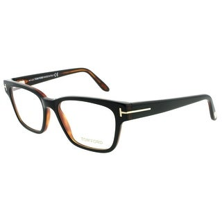 TOM FORD Square TF 5288 Unisex 005 Black/Brown Clear Eyeglasses - 49mm-16mm-140mm