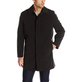 Haggar NEW Solid Black Mens Size XL Quilted Button Down Kildare Coat