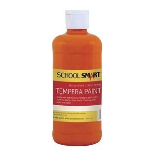 School Smart Non-Toxic Multi-Purpose Liquid Tempera Paint, 1 pt Plastic Bottle, Orange