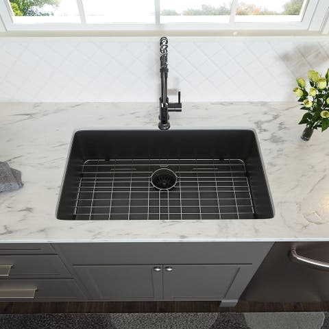 28 inch Farmhouse Kitchen Sink in Black