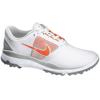 Nike Women's FI Impact White/Light Grey/Base Grey/Turf OrangeGolf Shoes 611509-100