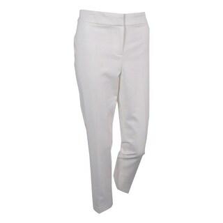 Kasper Women's Petite Kristy Straight-Leg Pants - Vanilla Ice