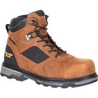 "Georgia Boot Men's Hammer HD Composite Toe Waterproof 6"" Work Boot Brown Leather"