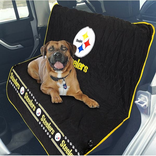 3890756c4a4 Shop Pets First NFL Pittsburg Steelers Pet Car Seat Cover - On Sale ...