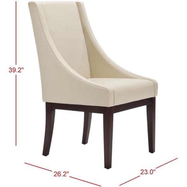 "SAFAVIEH Dining Soho Cream Leather Arm Chair - 23"" x 26.2"" x 39.2"""