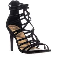 MG35 Pixie Strappy Heeled Sandals, Black
