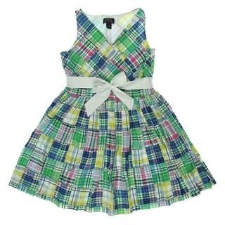 Polo Ralph Lauren Girls Pintuck Woven Casual Dress - 16