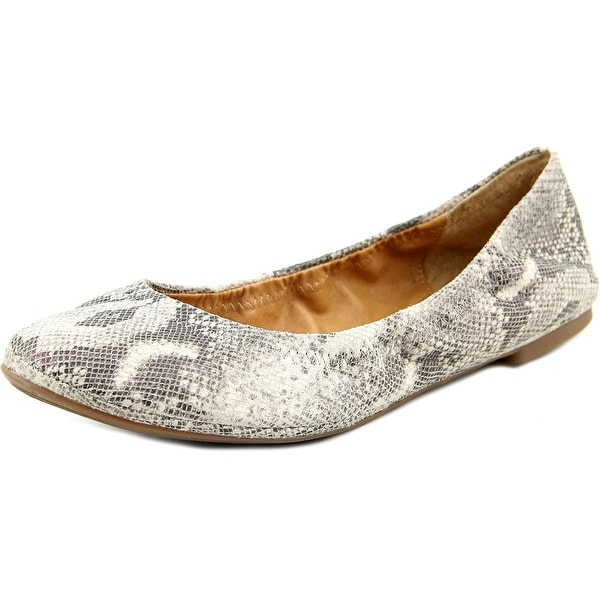 Lucky Brand Emmie Women  Round Toe Leather Gray Ballet Flats