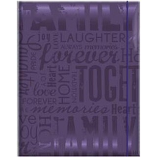 "Family Deep Purple- Embossed Gloss Expressions Photo Album 4.75""X6.5"" 100 Pocket"