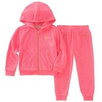 Juicy Couture Girls 4-6X Two Piece Jog Set - Pink
