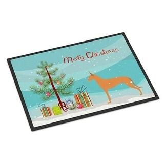Carolines Treasures BB2906JMAT Pharaoh Hound Merry Christmas Tree Indoor or Outdoor Mat 24 x 36