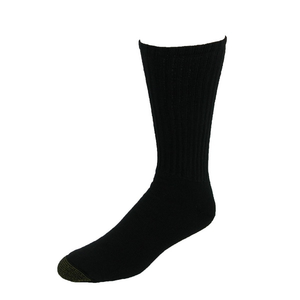 Gold Toe Men's Big and Tall Cotton Crew Socks (Pack of 6)