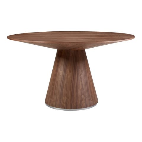 Aurelle Home Modern Geometric Round Dining Table