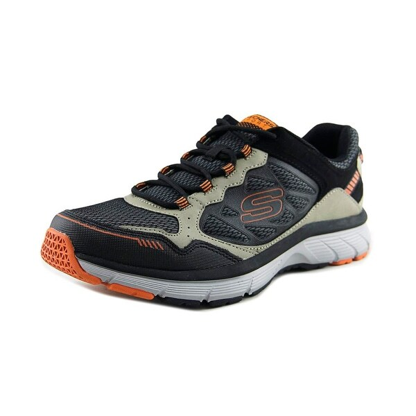 Skechers Bowerz Men Round Toe Leather Gray Running Shoe