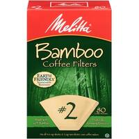 Melitta #2 Cone Bamboo Paper Coffee Filters, 80 Count, 2 Pack