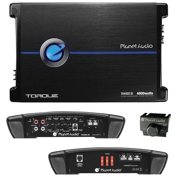 Planet Audio TR4000.1D Torque 4000 Watt, 1 Ohm Stable Class D Monoblock Car Amplifier with Remote Subwoofer Control