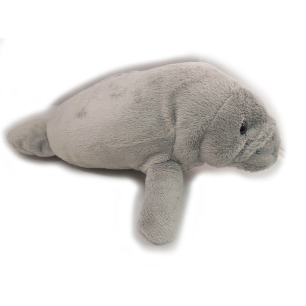 "Wishpets Unisex-Child Manatee Plush Toy 11"" Gray"