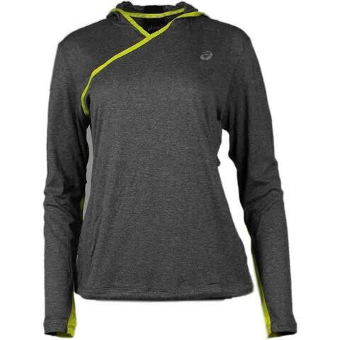 ASICS Printed Hoodie Womens Athletic Hoodie - Grey