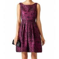 Cynthia Steffe Purple Womens Size 8 Shimmer Metallic A-Line Dress