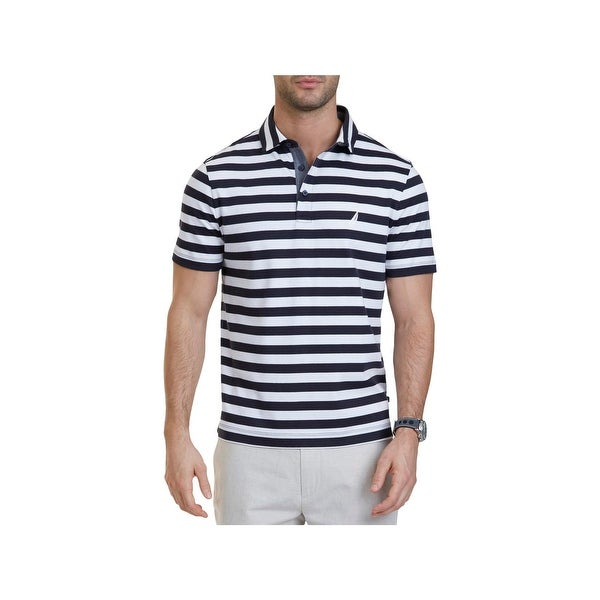 f73f4356 Shop Nautica Mens Polo Shirt Striped Classic Fit - XL - Free Shipping On  Orders Over $45 - Overstock - 22582277
