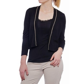 Thalia Sodi Chain-trim Bolero Cardigan Women Regular Sweater