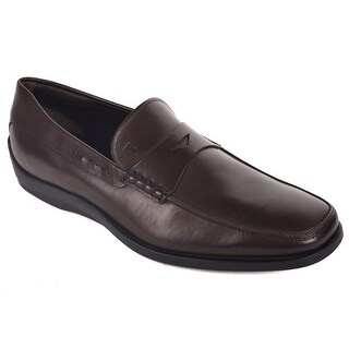Tod's Solid Brown Leather Quinn Driving Moccasins