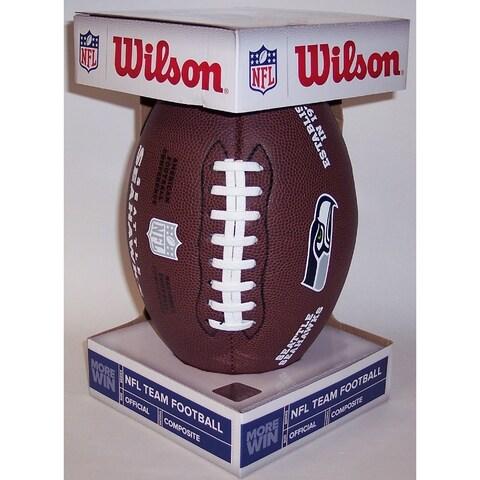Wilson Seattle Seahawks Full Size Composite NFL Football F1748