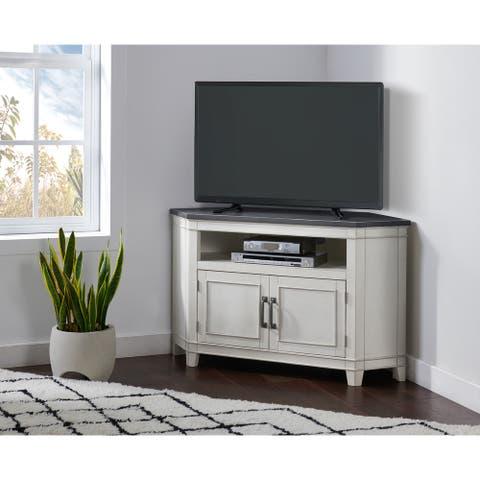 Wooden Corner TV Stand by Martin Svensson Home