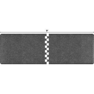 WellnessMats Anti-Fatigue Office & Kitchen Mat, PuzzlePiece Collection R Series, 9 Feet by 3 Feet, Granite Steel - granite steel