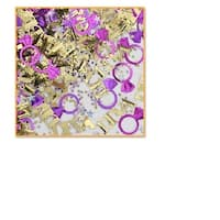 """Pack of 6 Purple and Gold """"Diva"""" Celebration Confetti Bags 0.5 oz."""