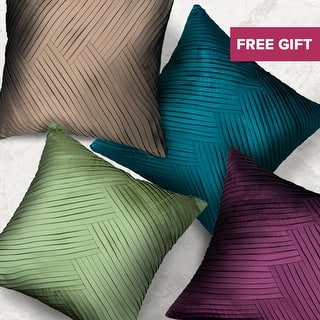 Modern Glam Solid Pleated Decorative Handmade Textured Throw Pillow Cover