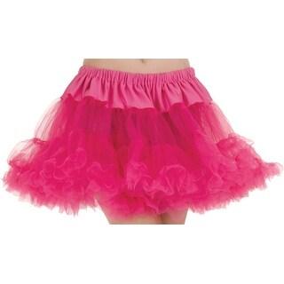 UR28285 Morris Costumes Women's Petticoat Tutu Adult Fuchsia ,One Size