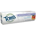 Tom's of Maine Whole Care with Fluoride Natural Toothpaste Gel, Orange Mango 4.7 oz - Thumbnail 0