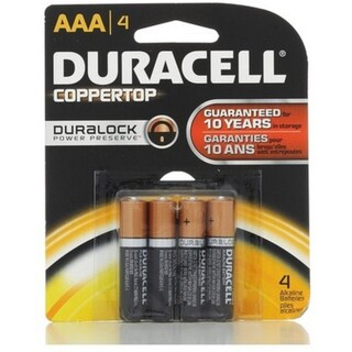 Duracell Coppertop AAA Alkaline Batteries 4 ea (3 options available)