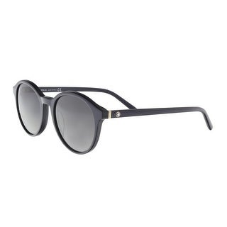 Montblanc MB505/S 92W Blue Round Sunglasses - 52-19-145