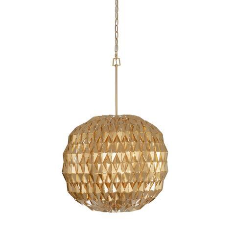 Varaluz Forever 6-light French Gold Orb Pendant
