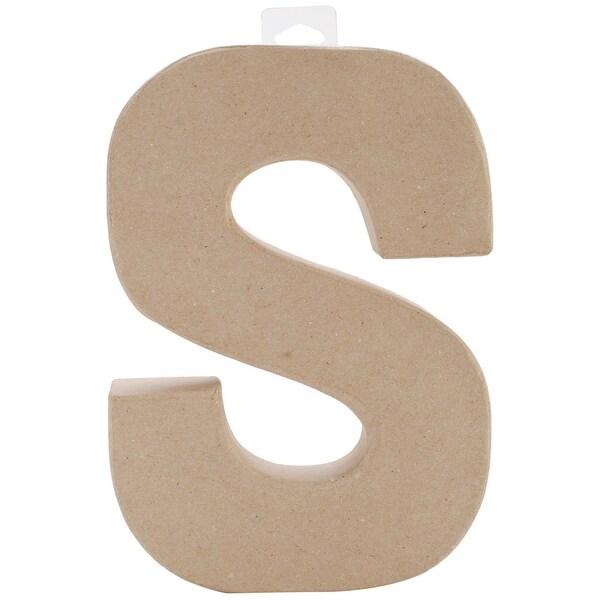 """Paper-Mache Letter 8""""X5.5""""-S"""