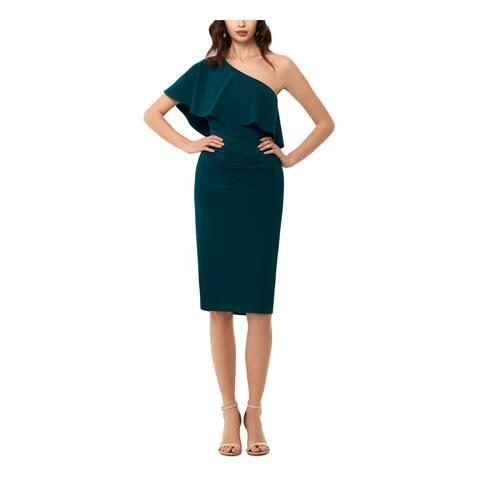 XSCAPE Green Sleeveless Below The Knee Dress 14