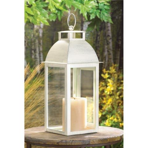 Weathered Ivory Candle Lantern
