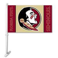 Bsi Products Inc Florida State Seminoles Car Flag With Wall Brackett Car Flag